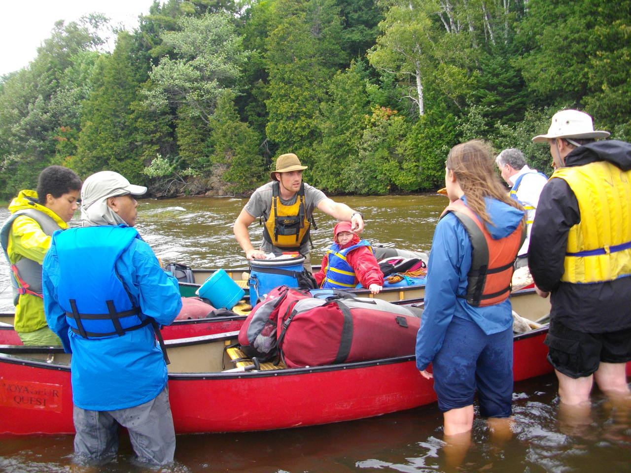 Packing up after a portage