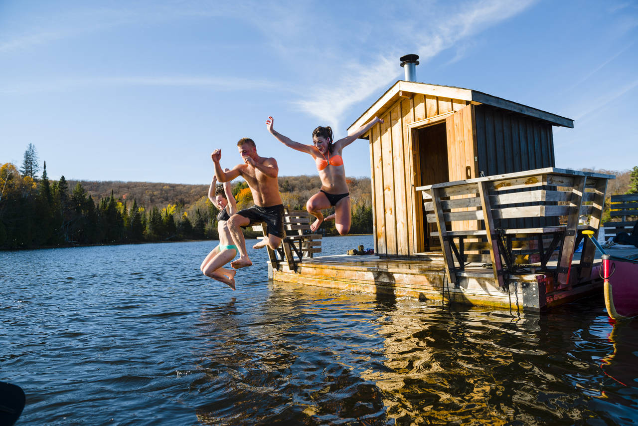 Floating Sauna; endless hours of fun!